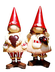"7""Lovely Village Kids Decoration Polyresin Collectibles(2 PCS Set)"