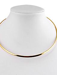 Mulheres Gargantilhas Formato Circular Forma Geométrica Liga Estilo simples bijuterias Jóias Para Diário Casual