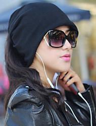 funtional casuale cappello di colore solido delle donne& sciarpa