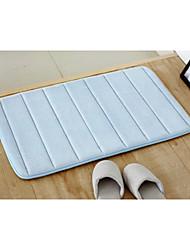 "Bath Mat Memory Foam Blue Stripe 20 x 31"""