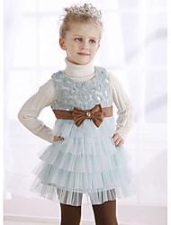 Girl's Beaded Sleeveless Sponge Cake Dress
