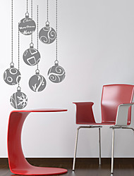 Holiday Merry Christmas Balls Wall Stickers