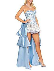 Traje caliente princesa Blue Satin de la Mujer