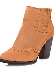 Leder Chunky Heel Ankle Boots (weitere Farben)