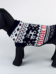 Dog Sweater Blue Dog Clothes Winter Christmas