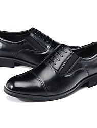 GUCIHEAVEN Men's Black Formal Real Leather Shoes
