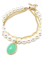 Women's Charm/Persona Beads Collection Bracelet Alloy Imitation Pearl