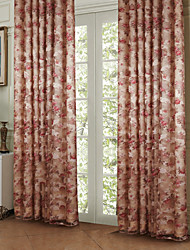 Two Panels Curtain Country Polyester Material Curtains Drapes Home Decoration For Window