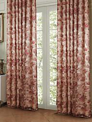 twopages® dois painéis flor peônia país de economia de energia cortina cortina