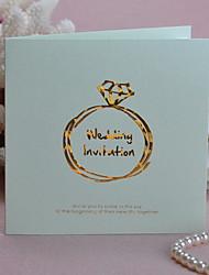Copy To Diamond Ring Design Wedding Invitation - Set of 50 (More Colors)