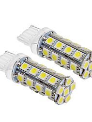 T20 6W 30x5060SMD 540LM 5500-6500K Холодный белый свет Светодиодные лампы для автомобилей (12V, 2шт)