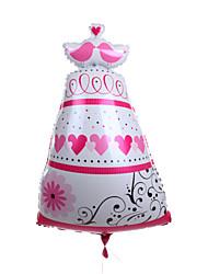 décoration de gâteau de mariage métallique ballon - l'amour des oiseaux