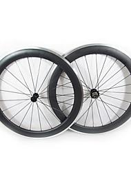 Farsports-700C route 60mm enclume de roues de vélo de route de carbone avec frein en alliage