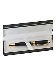 Personalisierte Black and Gold Metal Black Ink Gel Pen