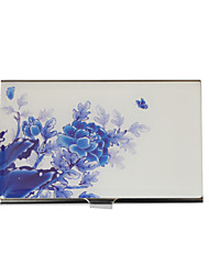 Personalized Blue-and-white Porcelain Design Cardcase - Peony