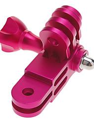 Alumínio Mount 3-way Pivot Arm extensão e uma porca de parafuso botão para GoPro Hero 2/3 Rosa