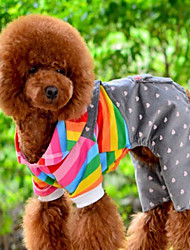 Dog Clothes/Jumpsuit Orange Dog Clothes Winter Spring/Fall Stripe Cute Casual/Daily