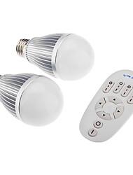 Lampadine a sfera - E26/E27 6 W- Con telecomando - RGB