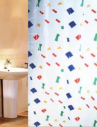 """Shower Curtain Geometry Print W71 x L71"""""""