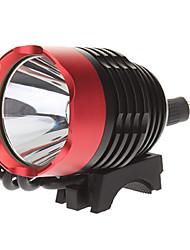 3-Mode Cree XM-L T6 LED Fahrrad Taschenlampe / Scheinwerfer (1000LM, 4x18650, Black + Red)