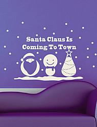 Праздник Рождество Санта-Клаус приходит стены Стикеры