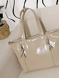 MIQIANLIN Fashion Genuines Leather Shoulder Bag(Almond)