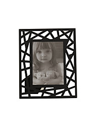 "10""Black Hollow Family Style Rectangle Picture Frame"