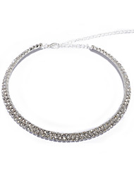 High Quality Two Layers Clear Crystal Wedding Bridal Jewelry Necklaces