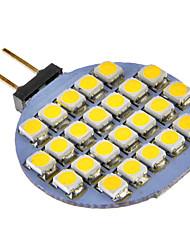g4 3w 24x3528smd 72lm lumière blanche chaude / froide Ampoule LED pour la voiture (12V DC)
