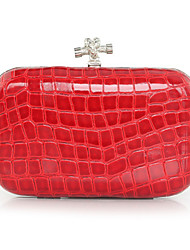 Gorgeous PU With Metal Clutches/Evening Handbags(More Colors)