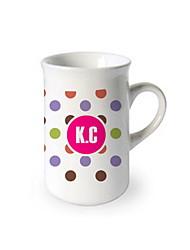 Personalized Cambered Mug - Colorful Dot