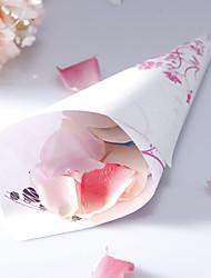 Personalizados Papel Pétala Cones Floral - conjunto de 12