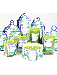 "3""H Green Tea Style Pillar Jar With Gift Box"