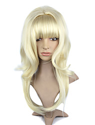 Capless Synthetic Long Golden Straight Hair Wig