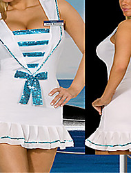 Sweet Girl White and Blue Polyester Naval uniforme