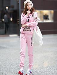 Juego del deporte de las mujeres (con capucha, chaleco y pantalones)