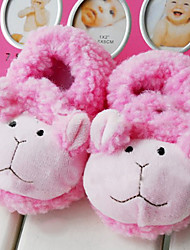 Cute Pink Bear Shaped Baby Slippers