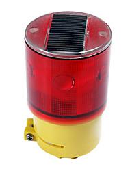 Solar Power Sinal de Segurança Flash 6-LED de luz de tráfego