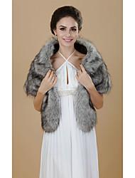 Half Sleeve Faux Fur Party/Casual Shawls