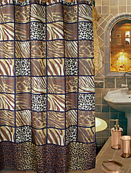 "Shower Curtain Stripes Animal Print grosso tecido resistente à água W71 ""x L71"""