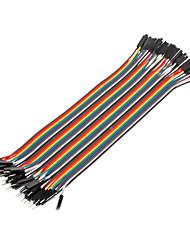 40pin 1P-1P Man-vrouw Dupont Line Kleurrijke Dupont Wire (20CM)