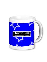 Personalized Blue Star Pattern Mugs