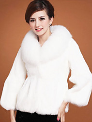 3/4 Sleeve Shawl Faux Fur Party/Casual Coat(More Colors)