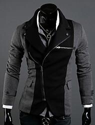 VSKA Men's Irregular Color Contrast Fit Suit