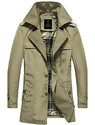 Men'S Lapel Casual Trench Coat