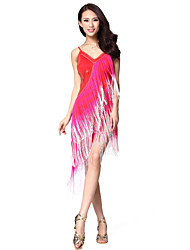 Dancewear Viscose Latin Dance Dress For Ladies(More Colors)