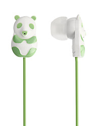 3.5mm 3D Panda Estilo música estéreo Fones de ouvido (125 centímetros, cores sortidas)