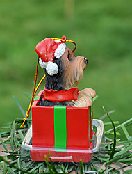 Carino Yorkshire ornamento decorativo regalo di Natale per i Pet Lovers