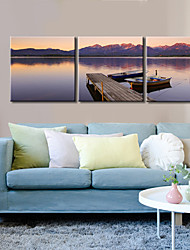 Canvas Set / Stretched Canvas Print Landscape Modern / Classic,Three Panels Horizontal Print Wall Decor For Home Decoration