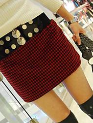 INNA Women's  Tweed Elastic Rivet Belt Dress